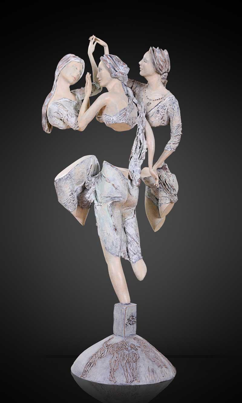 sculpture Lilou gilbert-desvallons - les trois grâces